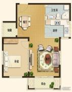 世嘉光织谷1室1厅1卫69平方米户型图