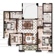 御庭园3室2厅2卫125平方米户型图