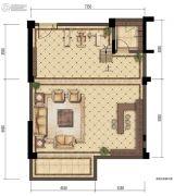 金辉中央�著0室2厅0卫0平方米户型图