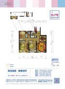 西溪永乐城3室2厅1卫89平方米户型图