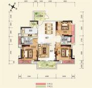 广博峰景3室2厅2卫118平方米户型图