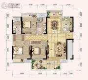 奥林匹克花园五期3室2厅2卫121平方米户型图