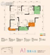 润和之悦4室2厅2卫112平方米户型图