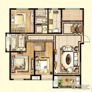 嘉宝梦之缘景庭3室2厅2卫0平方米户型图