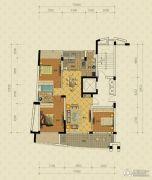 绿城蔚蓝公寓3室2厅2卫126平方米户型图