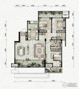 万科金色悦城3室2厅2卫110平方米户型图