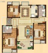 吴中万达广场3室2厅2卫121平方米户型图