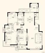 中润华侨城3室2厅2卫169平方米户型图