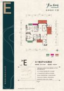 银港国际3室2厅2卫135平方米户型图