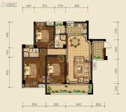 泰基巴黎春天3室2厅2卫107平方米户型图
