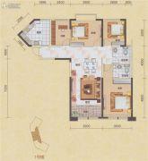 碧海紫金城4室2厅2卫139平方米户型图