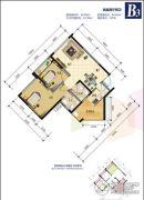 锦绣星城2室2厅2卫60平方米户型图