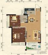 碧园・大城小院2室2厅1卫85平方米户型图
