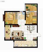 曲江龙邸2室2厅1卫80平方米户型图