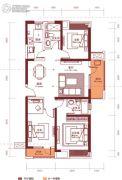 汉阳人信汇・ME TOO公馆3室2厅2卫116平方米户型图