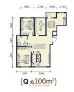 滨洲华府2室2厅1卫100平方米户型图