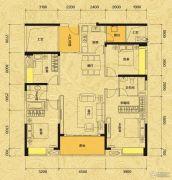 佳兆业东江新城4室2厅2卫138平方米户型图