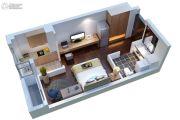康桥溪公馆1室1厅1卫38平方米户型图