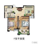 保利香槟国际2室2厅1卫88平方米户型图