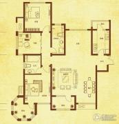 国赫红珊湾3室2厅2卫139平方米户型图