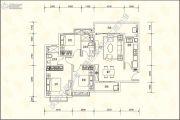 恒大名城3室2厅2卫122平方米户型图