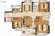 保利翡翠山3室2厅2卫96平方米户型图