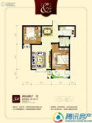 九乐倾城2室2厅1卫81平方米户型图