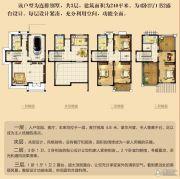 御景庄园4室2厅4卫240平方米户型图