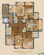 运河一品4室3厅4卫236平方米户型图