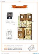 金地都会艺境3室2厅2卫89平方米户型图