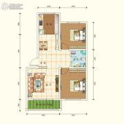 城南春晓2室2厅1卫87平方米户型图