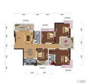 鸿达.金域世家4室2厅2卫144平方米户型图