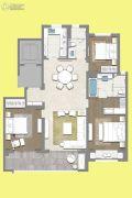 茉莉公馆3室2厅2卫140平方米户型图