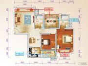 星光大道3室2厅2卫104--109平方米户型图