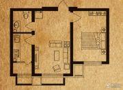 海德堡家园1室1厅1卫36平方米户型图
