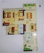 越秀滨海御城3室2厅1卫94平方米户型图