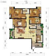 中交锦湾一期4室2厅2卫160平方米户型图