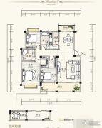 泰达・润景园3室2厅2卫126--127平方米户型图