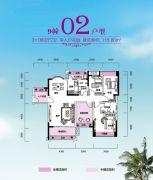锦富・汇景湾4室2厅2卫115平方米户型图