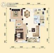 东湖国际城3室2厅1卫97平方米户型图