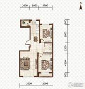 益和国际城2室2厅1卫87平方米户型图