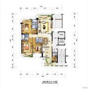 梅岭观海3室2厅2卫180平方米户型图