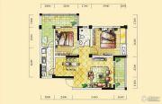 远达天际上城2室2厅1卫83平方米户型图