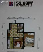 世纪新园・悦园2室1厅1卫53平方米户型图