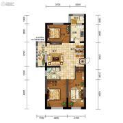 五矿・弘园3室2厅1卫109平方米户型图