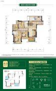 鲁能九龙花园4室2厅2卫88平方米户型图