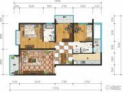 万裕・润园3室2厅2卫104平方米户型图