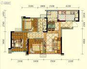 领地海纳时代3室2厅1卫79平方米户型图