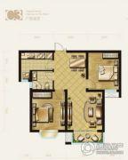 盛泽伯爵山2室2厅1卫86平方米户型图