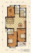 城南春天3室2厅2卫120平方米户型图